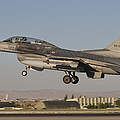 An  F-16b Of The Turkish Air Force by Giovanni Colla