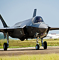 An F-35 Lightning II Taxiing At Eglin by Stocktrek Images