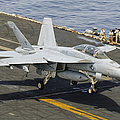 An Fa-18e Super Hornet Trap Landing by Giovanni Colla