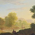 An Imaginary Coast Scene - With The Temple Of Venus At Baiae by Thomas Jones