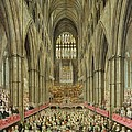 An Interior View Of Westminster Abbey On The Commemoration Of Handel's Centenary by Edward Edwards