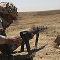 An Iraqi Army Soldier Prepares To Fire by Stocktrek Images