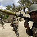 An Iraqi Army Soldier Provides Security by Stocktrek Images