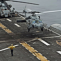 An Mh-60s Sea Hawk Lands Aboard by Stocktrek Images
