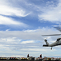 An Mh-60s Sea Hawk Lifts A Pallet by Stocktrek Images