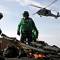 An Mh-60s Seahawk Passes Over Two by Stocktrek Images