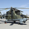 An Mi-24 Hind Helicopter by Stocktrek Images