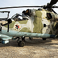 An Mi-24 Russian Helicopter by Stocktrek Images