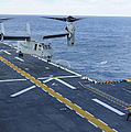 An Mv-22 Osprey Lands Aboard by Stocktrek Images