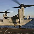 An Mv-22 Osprey Lands Aboard Usns by Stocktrek Images