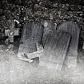 An Old Cemetery With Grave Stones And Fog by Joana Kruse