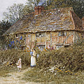 An Old Surrey Cottage by Helen Allingham