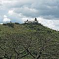 An Old Temple Building On Top Of A Hill With A Lot Of Clouds In The Sky by Ashish Agarwal