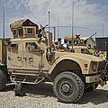 An Oshkosh M-atv Parked At A Military by Terry Moore