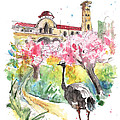 An Ostrich Going To Church In Cyprus by Miki De Goodaboom