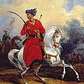 An Ottoman On Horseback by Charles Bellier