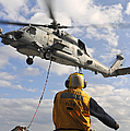 An Sh-60b Sea Hawk Helicopter Releases by Stocktrek Images