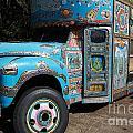 Anandapur Blue Bus Animal Kingdom Walt Disney World Prints by Shawn O'Brien