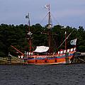 Anchored Ship by Karen Harrison