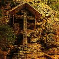 Ancient Cross. Holy Island  by Jenny Rainbow