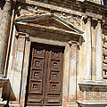 Ancient Doorway Column Granada Spain by John Shiron