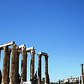 Ancient Greek Columns Or Pillars II Standing Tall In Athens Greece by John Shiron