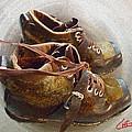 Ancient Old Ski Shoes  by Colette V Hera  Guggenheim
