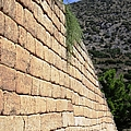 Ancient Wall II Leading To Citadel And Treasury Of Atreus Tomb Of Agamemnon In Mycenae Greece by John Shiron