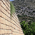 Ancient Wall Leading To Citadel And Treasury Of Atreus Tomb Of Agamemnon Royal Tombs Mycenae Greece by John Shiron
