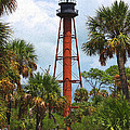 Anclote Key Lighthouse Craquelure by Barbara Bowen