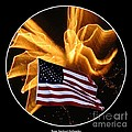 Angel Fireworks And American Flag by Rose Santuci-Sofranko