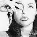 Angelina Jolie Pencil Art by Adem Demir