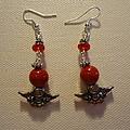 Angels In Red Earrings by Jenna Green