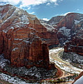 Angels Landing View From Top by Daniel Osterkamp