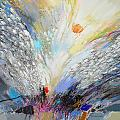 Angels Presence  - Square Painting by Petia Papazova