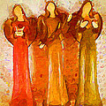 Angels Rejoicing Together by Kathy Clark