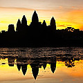 Angkor Wat At Sunrise by Stefan Nielsen
