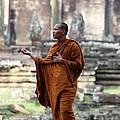Angkor Wat Monk by Nola Lee Kelsey