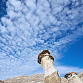 Angled Hoodoo And Clouds by David Kleinsasser