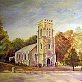 Anglican Church Beechworth  Victoria by Audrey Russill