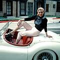 Anita Ekberg, On Her Jaguar, Late 1950s by Everett
