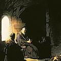 Anna And The Blind Tobit by Rembrandt Harmensz van Rijn