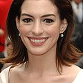 Anne Hathaway At The Press Conference by Everett