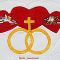 Anniversary Hearts by Sally Weigand