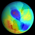 Antarctic Ozone Hole, September 2002 by Nasa