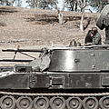 Anti-aircraft Guns Mounted On An M109 by Stocktrek Images