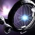 Antimatter Drive Spaceship by Christian Darkin