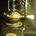 Antique Coffee Grinder by Thelma Harcum