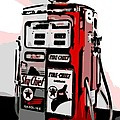 Antique Gas Pump by George Pedro