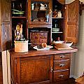Antique Hoosier Cabinet by Carmen Del Valle